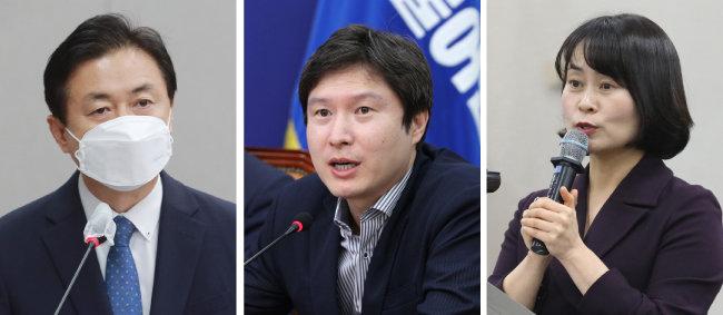 김영춘 국회사무총장, 김해영 전 더불어민주당 의원, 박인영 부산시의원(왼쪽부터).