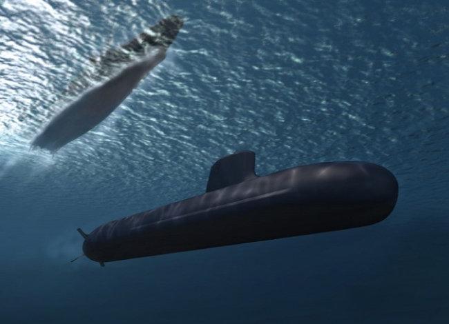 한국형 핵잠수함 모델로  거론되는 프랑스 바라쿠다급  원자력 추진 잠수함. [DCNS 제공]
