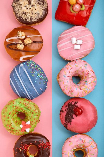 화려한 색과 모양을 뽐내는 도넛 사진은 요즘 소셜네트워크서비스(SNS) 이용자 사이에서 큰 인기다. [GettyImages]