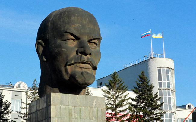 2011년 9월 14일 러시아 연방 부랴트 자치공화국의 수도 울란우데 중앙광장에 레닌 두상이 서 있다. [동아DB]