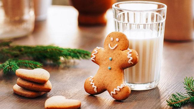 사람 모양으로 만든 생강과자 진저맨 쿠키. 크리스마스에 인기 있는 간식거리다.  [GettyImage]