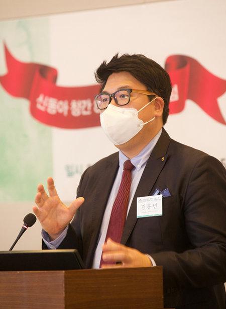 """김홍년 NH농협금융지주 금융연구센터 연구위원은 """"농협은 ESG 개념을 경영 전반에 접목시켜 지속가능한 경제 성장 패러다임을 마련했다""""고 말했다.  [지호영 기자]"""