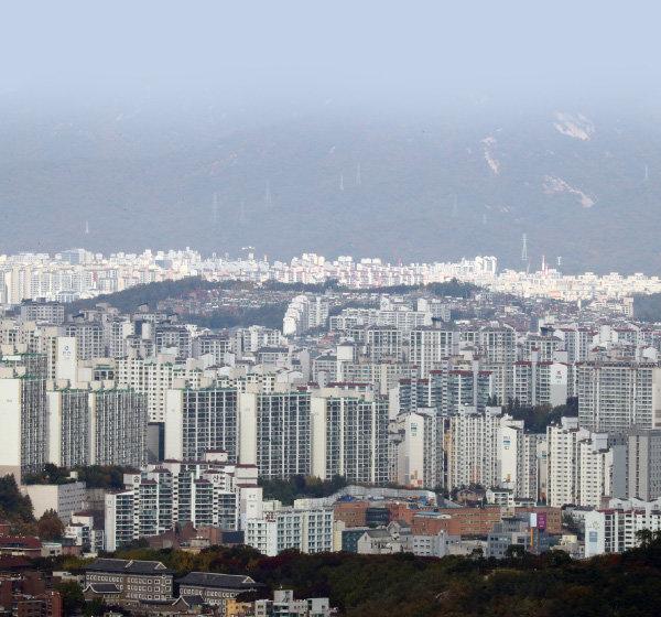 서울의 아파트 밀집지역 전경 [동아DB]