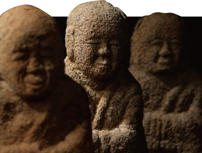 강원 영월군에서 출토된 창령사터 오백나한상은 국립중앙박물관 상설전시실에 자리를 잡았다. [국립중앙박물관]