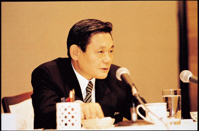 1993년 6월 7일 독일 프랑크푸르트에서 신경영 선언 당시의 이건희 회장. [삼성전자 제공]