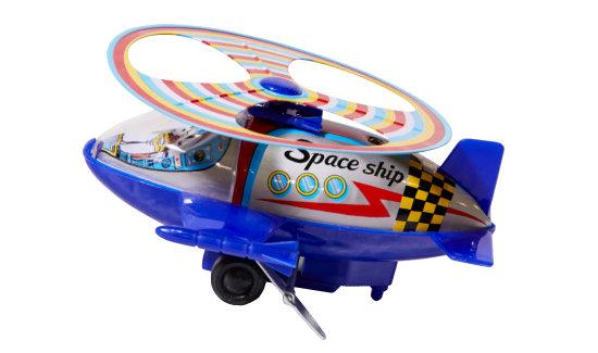 1970년대 SU공업사가 만든 우주선 장난감. 양철과 플라스틱으로 만들었으며, 태엽을 감으면 움직인다. 'MADE IN KOREA' 마크를 달고 해외로 팔려나갔다.