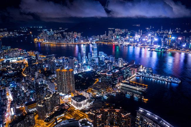 야경이 아름답기로 유명한 홍콩의 밤 풍경. [GettyImage]
