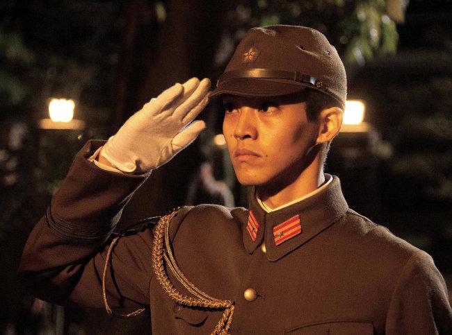 '일본 패망 하루전'의 하타나카 소좌. [Shochiku배급사 제공]
