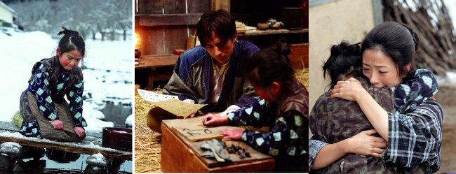 여덟살 소녀 '오싱'을 통해 일본 근대사를 다룬 영화 '오싱'의 스틸컷. [(주)팝엔터테인먼트 제공]