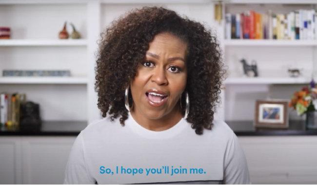 2020년 7월 스포티파이는 미셸 오바마의 팟캐스트(The Michelle Obama Podcast)를 독점 서비스했다.   [스포티파이 유튜브 채널 캡처]
