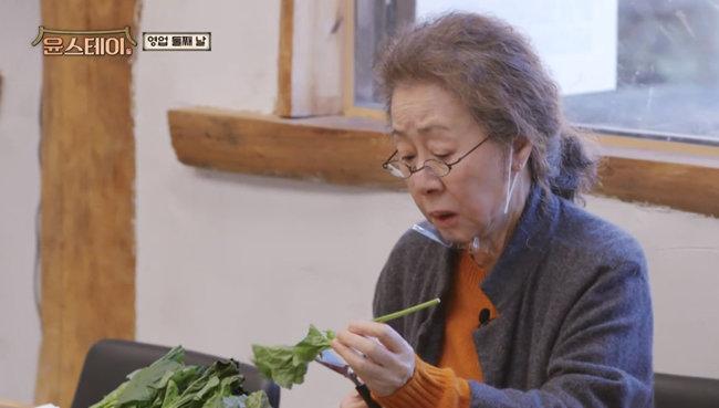 윤여정 씨가 외국인 손님을 대상으로 숙박업소를 운영하는 콘셉트의 예능 프로그램 '윤스테이'의 한 장면.  [tvN 제공]