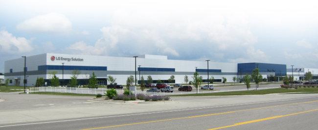 미국 미시간 주에 있는 LG에너지솔루션 공장 전경. [뉴스1]