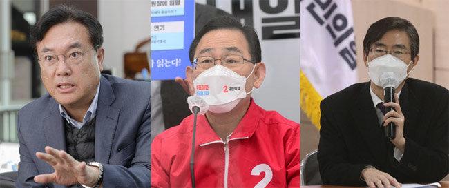 국민의힘 당대표에 도전하려는 의원들. 정진석, 주호영, 조경태(왼쪽부터) [동아DB]