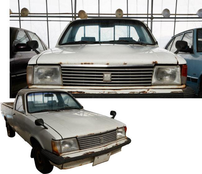 대우자동차가 '포니 픽업' 대항마로 1980년대 생산한 '맥스 픽업 디젤'.