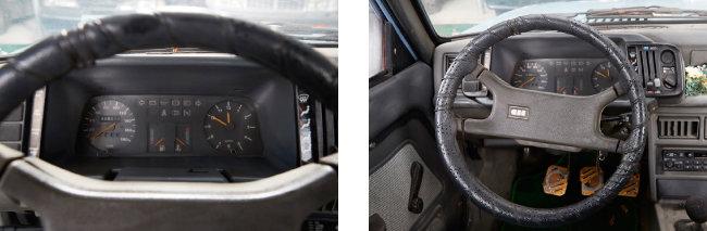 '포니2' 운전석.