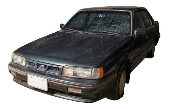 기아자동차가 1989년 선보인 준중형 승용차 '캐피탈'.