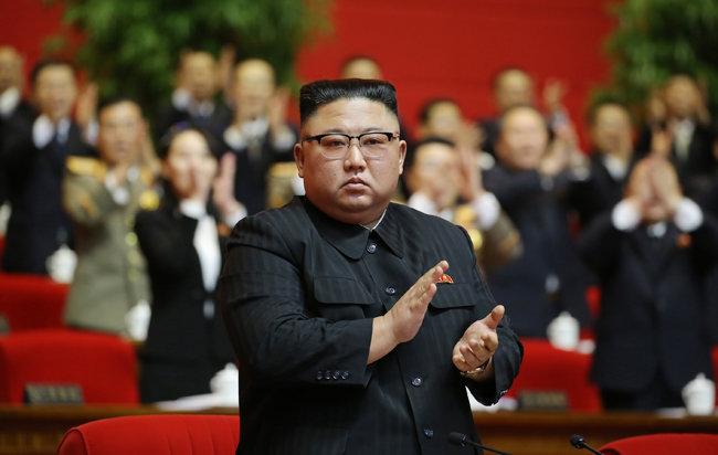 지난 1월 개최된 8차 노동당 당대회에서 총비서로 선출된 김정은. [노동신문=뉴스1]