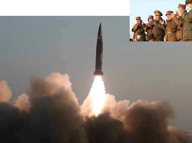 3월 26일 북한 노동당 기관지 노동신문은 전날 미사일 발사 소식을 보도했다. [노동신문]
