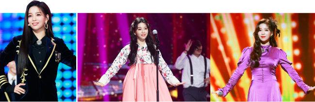 지난 2월 종영한 KBS 경연 프로그램 '트롯 전국체전'에서 열창하는 신미래. [포켓돌스튜디오 제공]