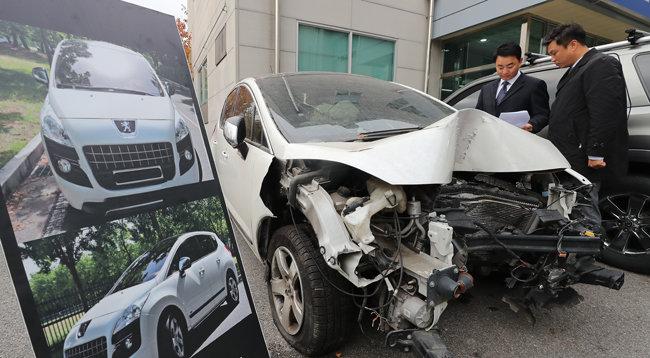 2017년 11월 경기남부지방경찰청 국제범죄수사대는 폐차 직전의 수입차를 무사고 차량으로 둔갑시켜 이를 담보로 대출을 받으려 한 사기범 일당을 검거했다. [뉴스1]