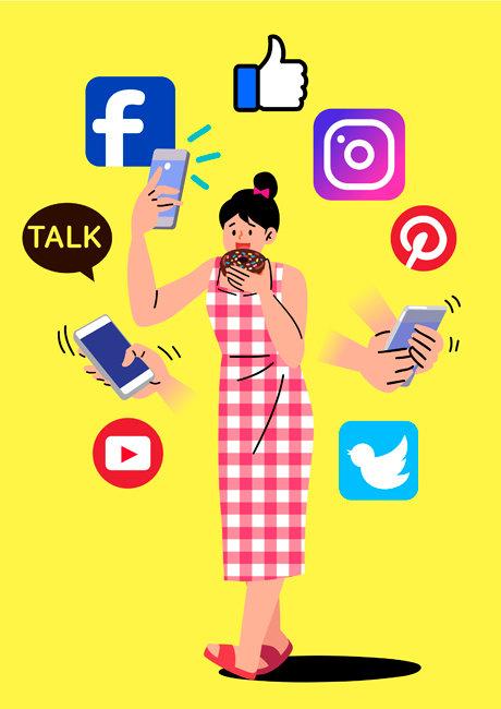 MZ세대는 소셜네트워크서비스(SNS)상에서 본계정 이외 부계정 여러 개를 활용하며 자신의 취향과 관심사를 드러내는 경향을 보인다. [사진=GettyImages]
