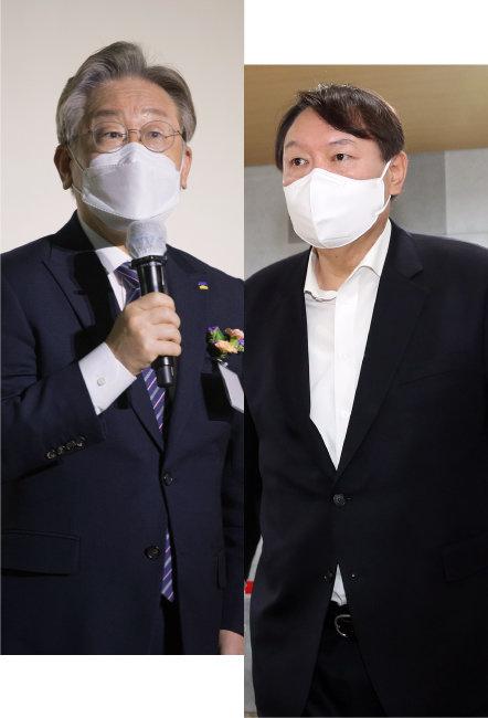 이재명 경기지사(왼쪽). 윤석열 전 검찰총장. [뉴시스, 동아DB]