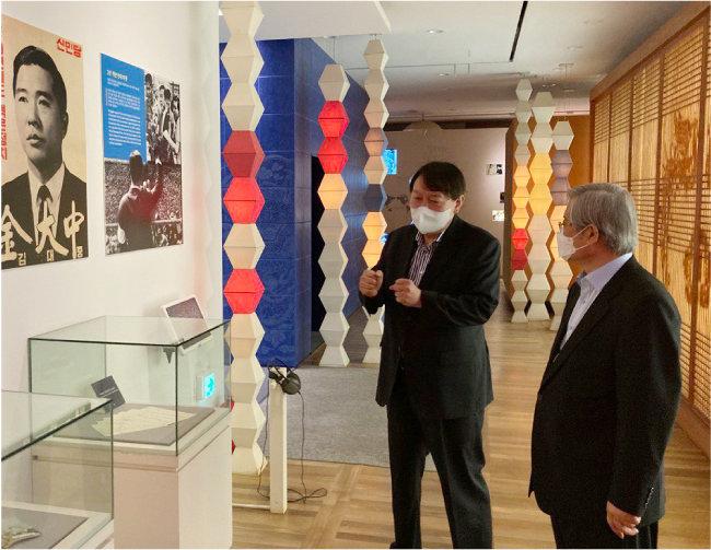 6월11일 윤석열 전 검찰총장이 김대중도서관을 방문했다. [윤석열 전 총장측 제공]