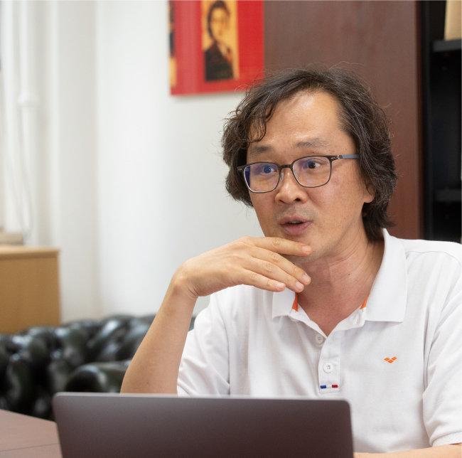 7월 8일 대전 kaist에서 만난 이원재 교수. [지호영 기자]
