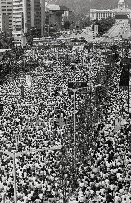 1987년 7월 9일 서울광장에서 거행된 이한열 열사 장례식. [동아DB]
