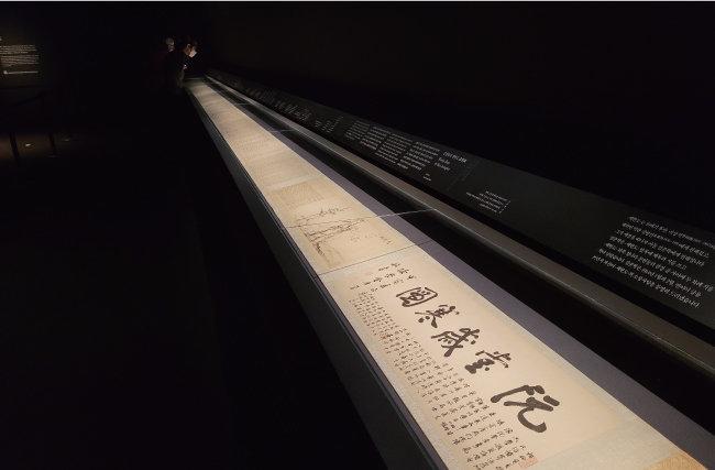 국립중앙박물관은 추사 김정희의 '세한도'를 지난해 11월부터 올해 4월까지 공개 전시했다. [이광표 제공]
