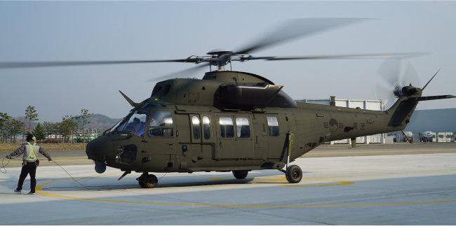 KAI가 개발한 군용헬기 수리온. KAI는 수리온을 시작으로 헬기 국산화 사업을 시작할 계획이다. [KAI 제공]