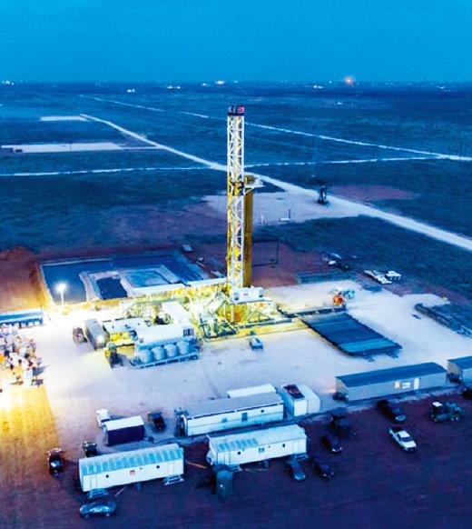 미국 석유회사 셰브론의 퍼미언 분지 셰일오일 유전.[사진 제공·셰브론사]