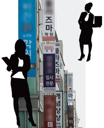 입시학원이 몰려 있는  서울 강남구 대치동 풍경.[조영철 기자]