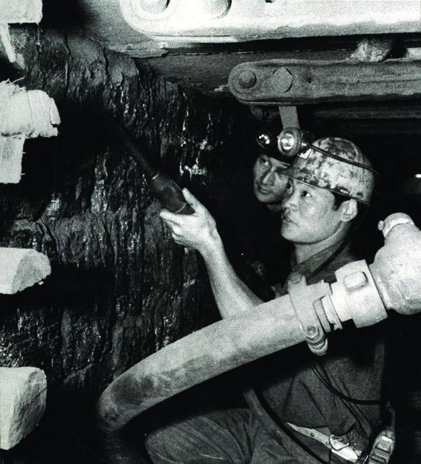 파독 광부들이 석탄을 캐고 있는 모습.[동아DB]