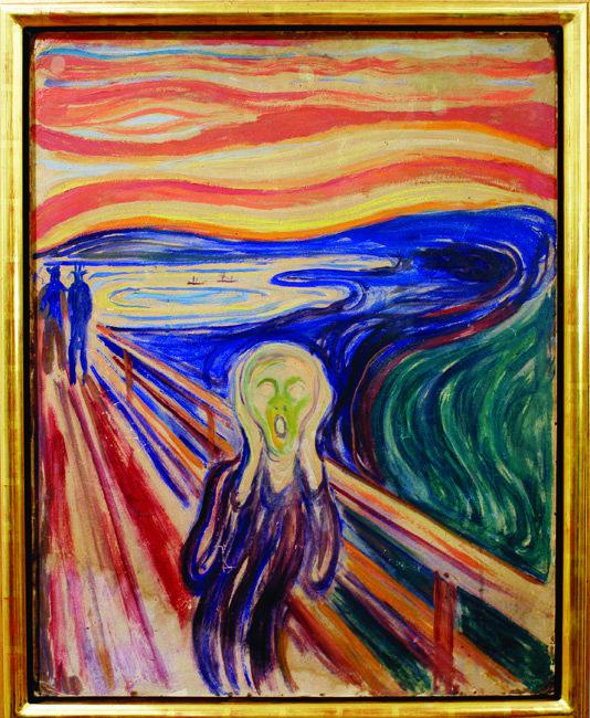 공포의 상징이 된 뭉크의 '절규' 속 붉은 하늘.
