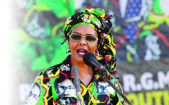 로버트 무가베 짐바브웨 대통령의 부인 그레이스.[짐바브웨 헤럴드]