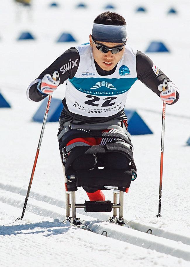 2017년 3월 평창세계장애인노르딕스키 월드컵 출전 당시 모습. [사진 제공·대한장애인체육회]
