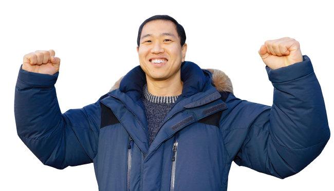 김윤호 선수는 2018 평창동계패럴림픽에서 첫 정식 종목으로 채택된 스노보드에서 메달을 목에 걸겠다는 각오다. [박해윤 기자]