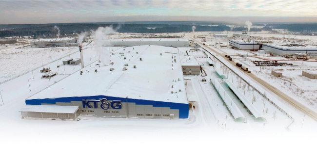 KT&G 러시아 공장 전경.