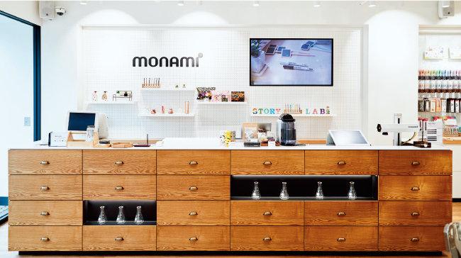 모나미 스토리연구소 잉크랩에서는 제품을 활용한 수업도 진행된다.