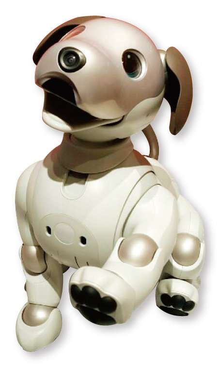 소니가 개발한 인공지능(AI) 강아지 로봇 아이보. [김범석 기자]