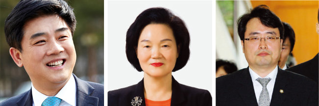 김병욱 민주당 의원, 윤종필 자유한국당 의원, 이헌욱 변호사.(왼쪽부터)