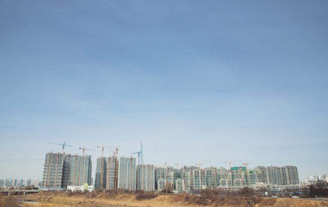 서울 송파구 헬리오시티의 모습. 올해 말 완공 예정이다. [지호영 기자]