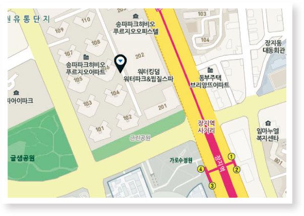 위치 | 서울 송파구 송파대로 111 파크하비오 지하 1층.