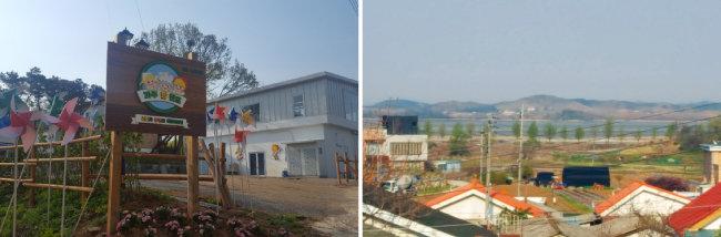 경기 파주팜랜드(왼쪽)에서는 자유로와 임진강 너머로 북한이 한눈에 보인다. [동아DB]