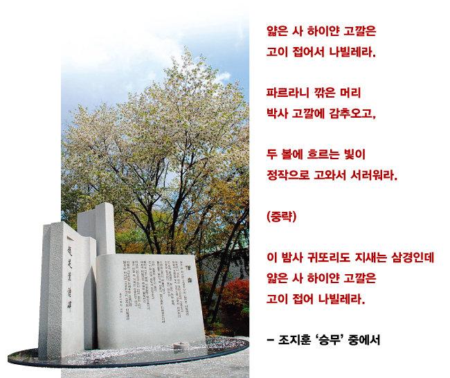 조지훈 시비. [위키피디아]