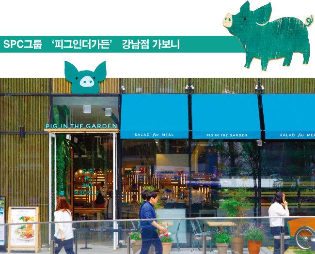 SPC그룹에서 운영하는 샐러드 전문점 '피그인더가든' 서울 강남점. [박해윤 기자]