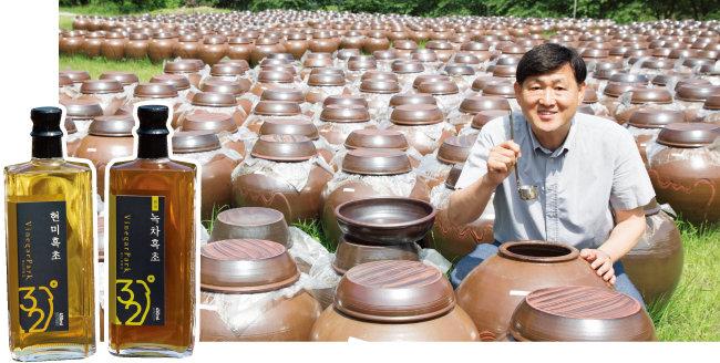 최진섭 비니거파크 대표는 건강 욕구가 커지는 100세 시대를 맞아 사람들에게 도움이 될 만한 건강식품 사업 아이템을 찾던 중 2014년 일본 가고시마현의 명물인 흑초를 접하고 본격적으로 사업을 시작했다. [조영철 기자]