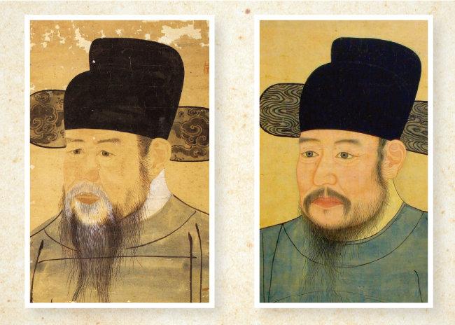 백사 이항복(왼쪽), 한음 이덕형. [서울대학교박물관, 한국역사문화원]