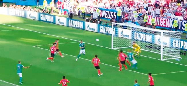 독일이 6번이나 유효 슈팅을 기록했지만 골키퍼 조현우의 선방을 넘지 못했다. [유튜브 캡처]